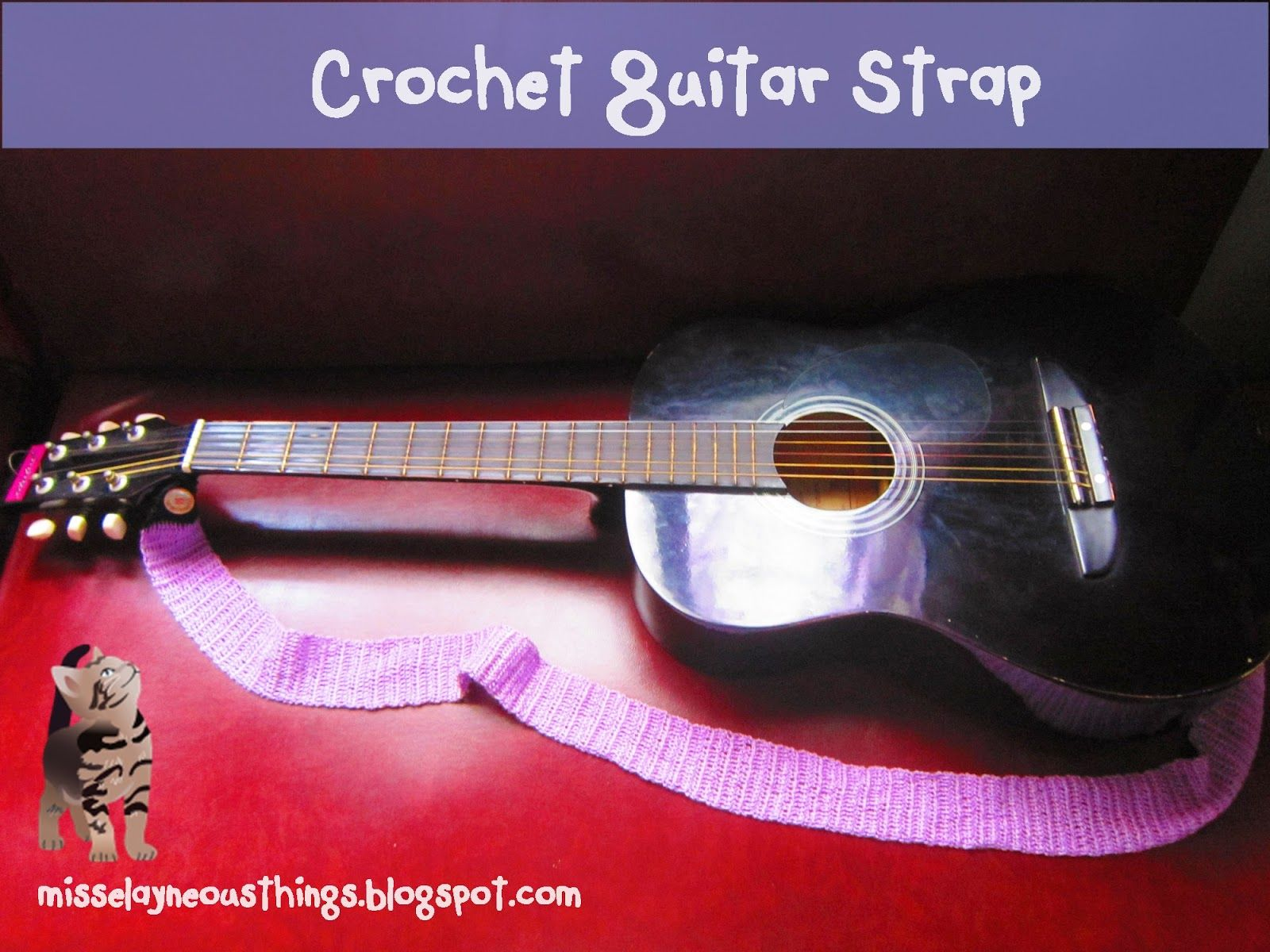 i'm a proud crafter: diy crochet your own guitar strap | bobby