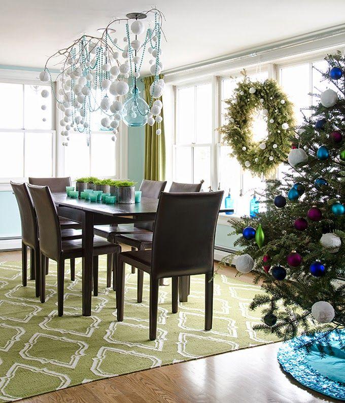 Awesome Diy Christmas Decorationkristina Crestin  Turquoise Beauteous Christmas Decorations For Dining Room Inspiration