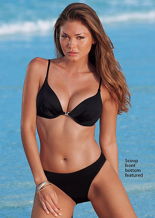 29955afa038d06 Black Beauty Famous enhancer bra with scoop front moderate from VENUS. Top  available in sizes A-DDD and bottom in sizes 2-14!