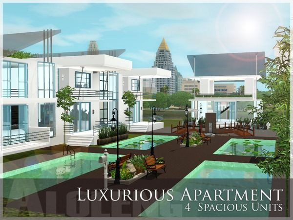 Luxurious Apartment By Aloleng Sims 3 S Cc Caboodle Ious Living Room Luxury Cars