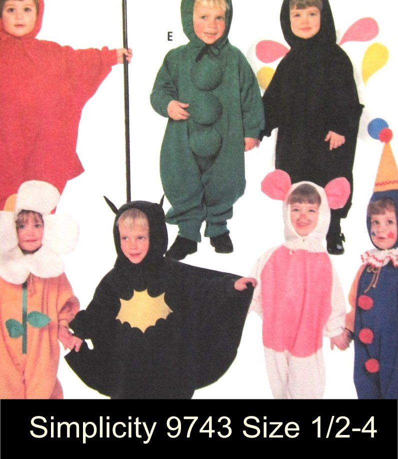 ToddlerHalloweenCostumePatternDevilPeaPodButterflySize6060 Best Toddler Halloween Costume Patterns