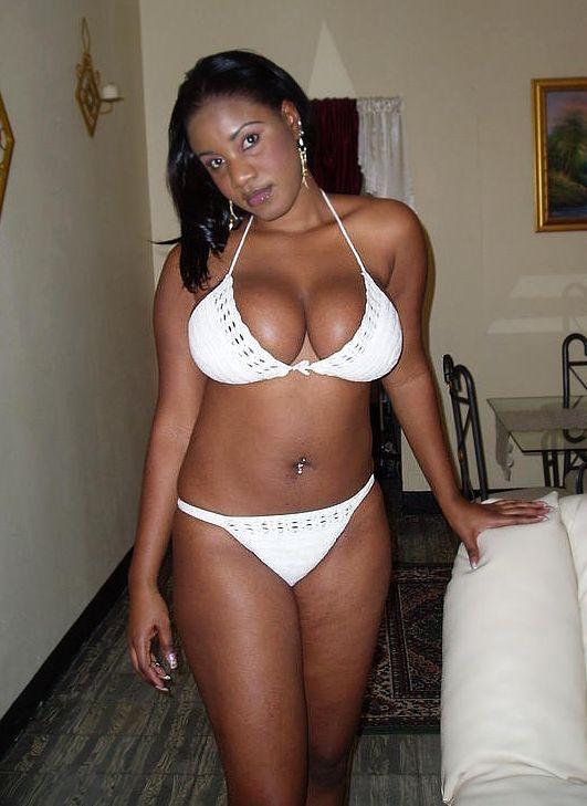 Sexy Black Girl In White Bikini Black Sexy Women