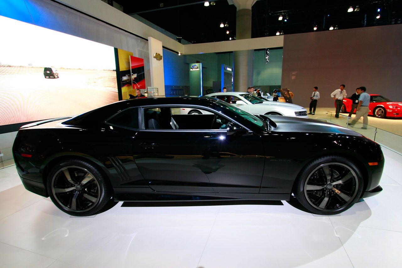 So far chevrolet camaro sold mostly in black and with v8 engines