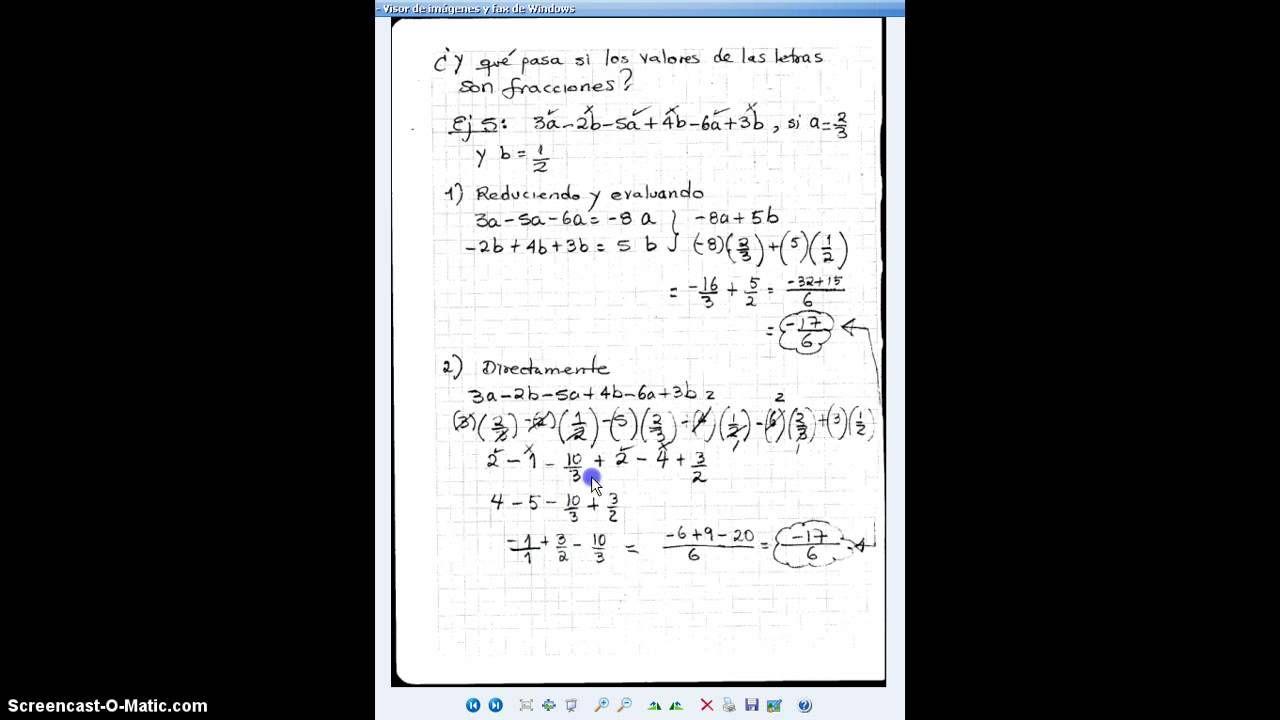 Video 50 Valor Numérico De Expresiones Algebraicas Parte 2 De 2 Math Bullet Journal Journal