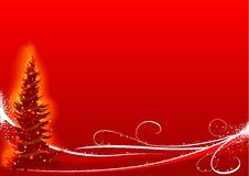 Red Christmas Tree Stock Photography