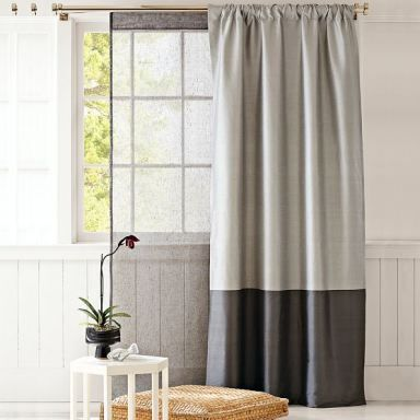two toned curtains!