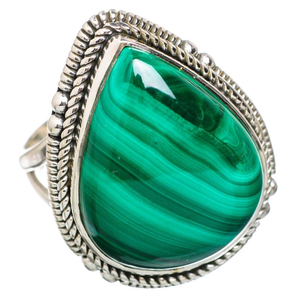 Ana Silver Co Large Malachite 925 Sterling Silver Ring Size 6.75 RING826825