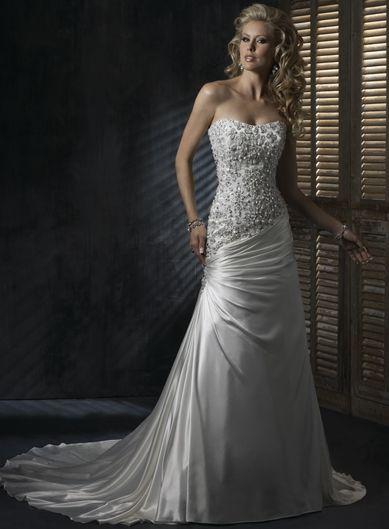 Robe de mariée de nouveauté avec Broderie et cristal d'Angers