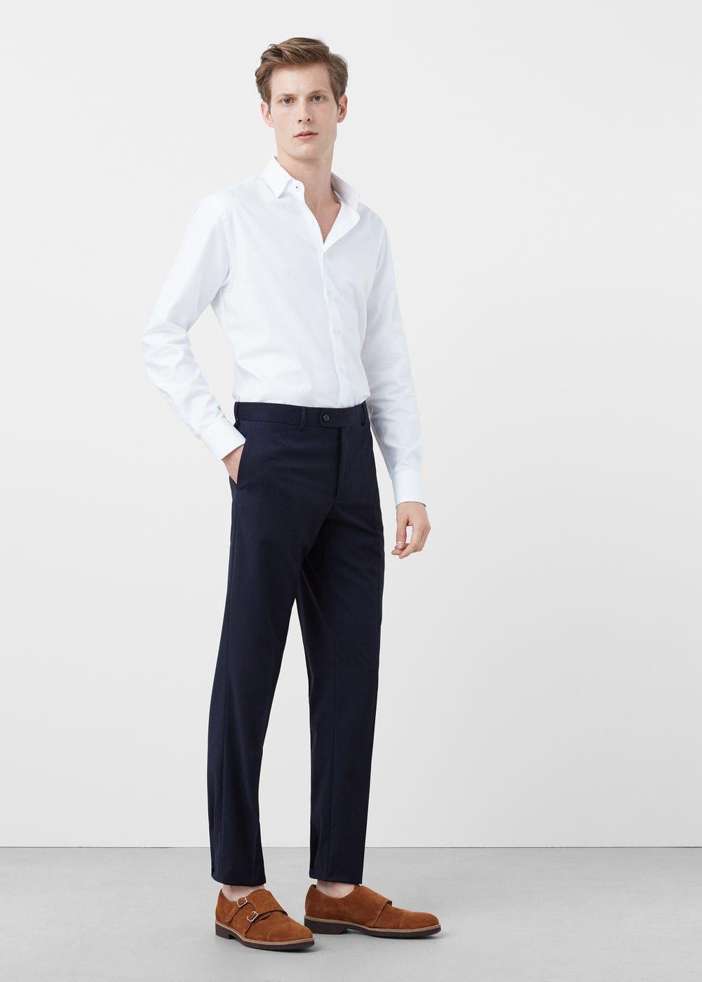 Pantalón traje slim-fit - Hombre  d3899829343