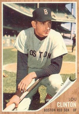 1962 Topps Lou Clinton Baseball Cards Baseball Card