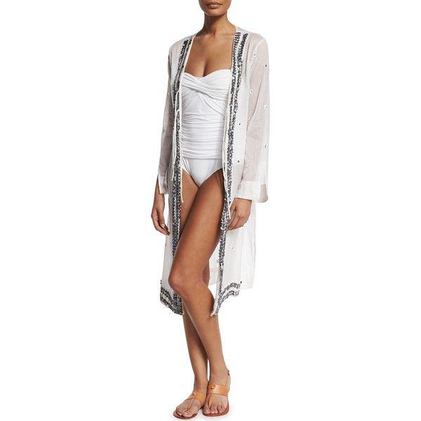 Letarte Bandana Tie Front Kimono Coverup Clothes Design Kimono Swim Cover Up Cover Up