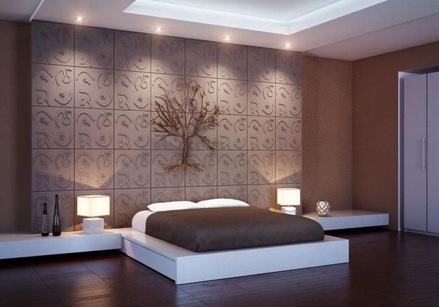 decorative wall panels adding chic carved wood patterns to modern wall design - Wall Panels Interior Design