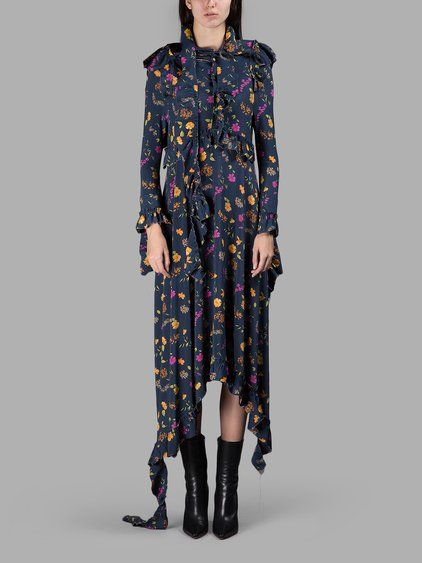 Discount Very Cheap Floral-printed dress VETEMENTS Supply Cheap Price vOBlX9Zdh
