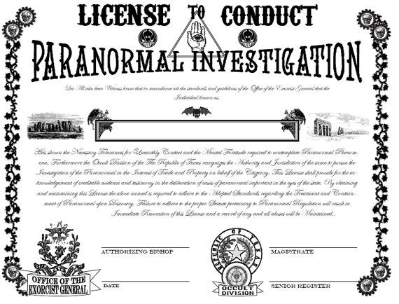 Items Similar To Steampunk Paranormal Investigator S License For Pdf Printout On Etsy