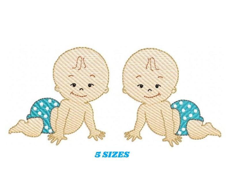 Cute Baby Boy embroidery design newborn embroidery design machine cute embroidery pattern file instant download baby embroidery baby design