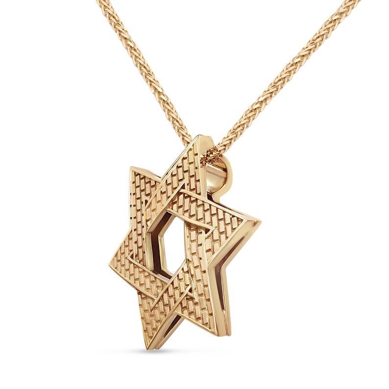 14k Gold Star Of David Necklace Man Pendant Etsy Yellow Gold Pendants Star Of David Pendant Gold