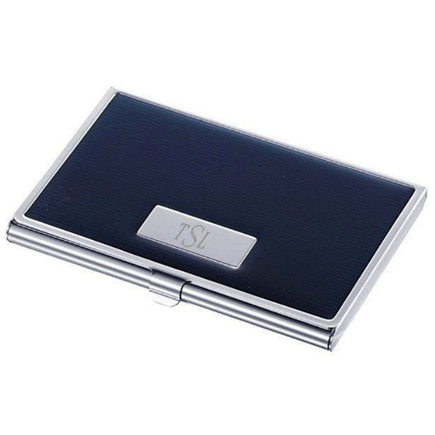 Andrew navy blue lacquer business card case personalized gift them with our navy blue and silver plated business card case perfect for corporate awards our customized cases are a timeless choice for events colourmoves Choice Image