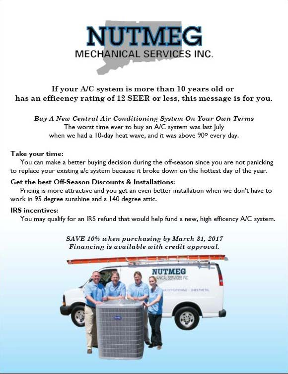 Nutmeg Mechanical Services Heating Air Conditioning Specialist