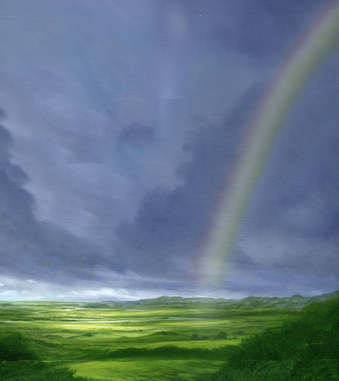 "Saatchi Online Artist: mark duffin; Oil, 2011, Painting ""rainbow 4"""