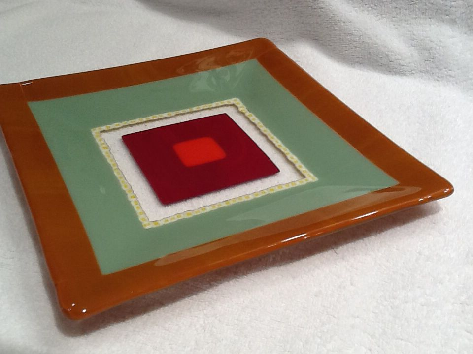10 inch square plate #4