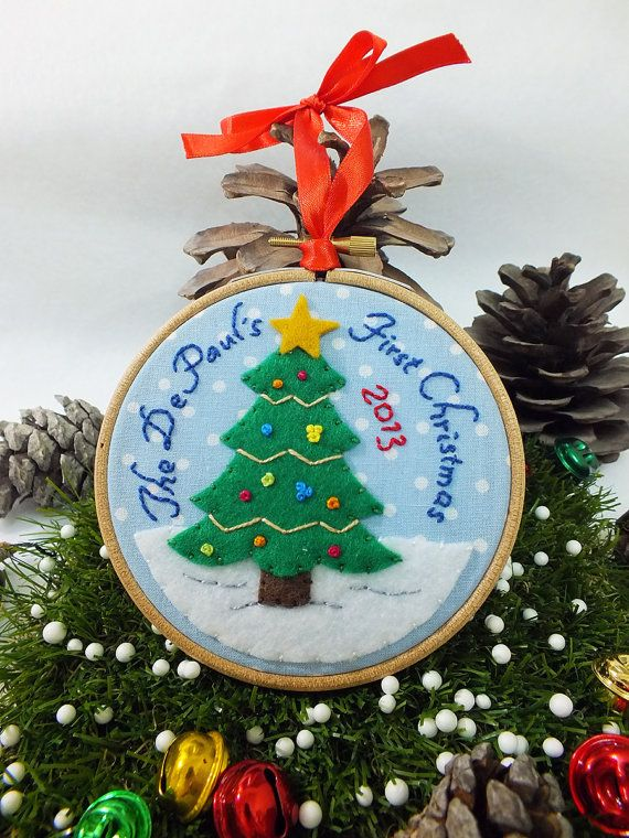 our first christmas newlywed ornament couple by buligaia on etsy