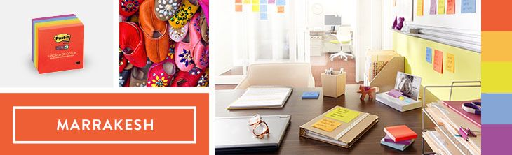 Explore the Post-it Colours of the World Colour collection. Here's the Marrakesh Collection! #Colour #Post-its