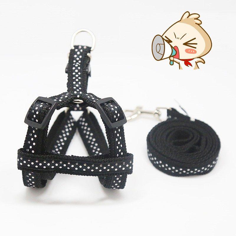 Colorful pet dog collar and leash set small dog harness