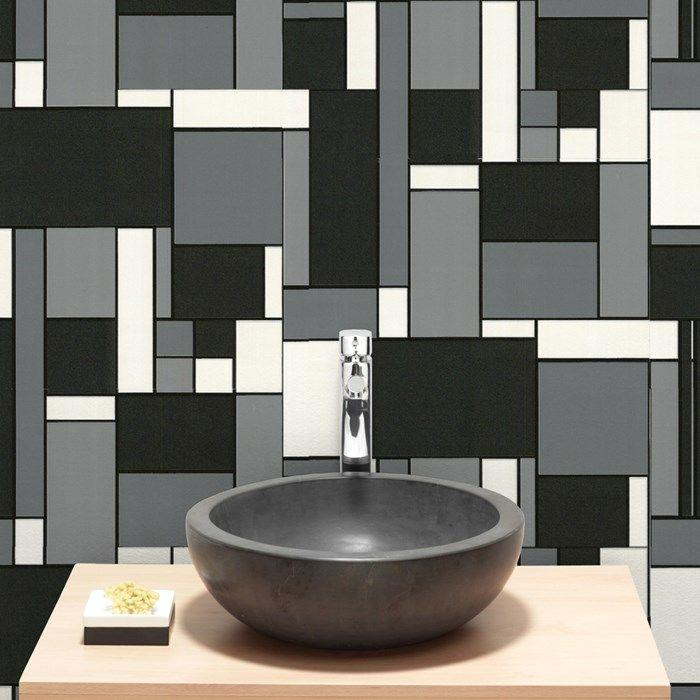 Black N White Bathroom: Retro Wall Coverings By Graham