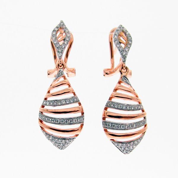 Second Hand Gold Diamond Earrings