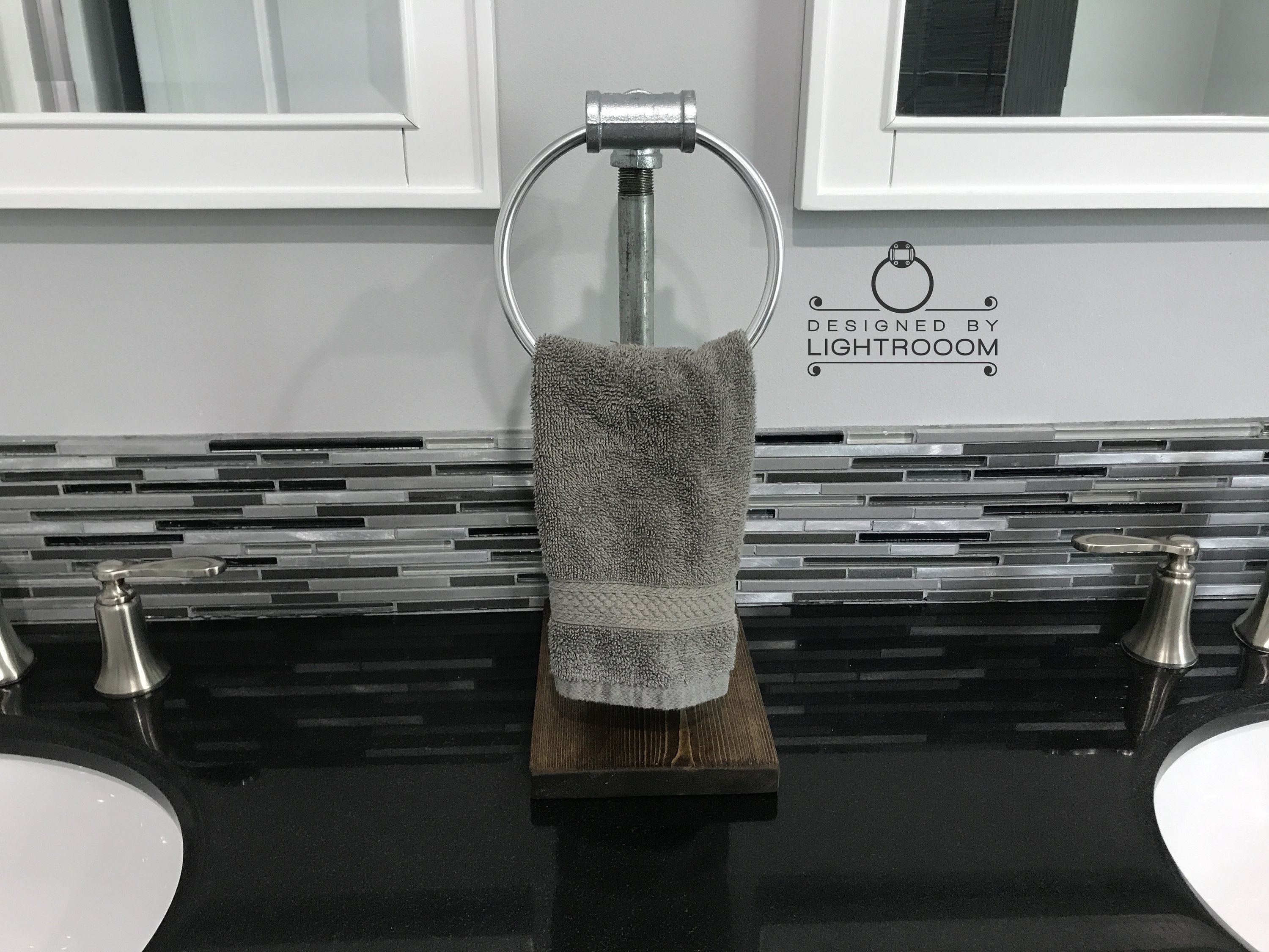 Hand Towel Ring Stand Towel Ring Industrial Rustic Bathroom Decor Guest Bathroom Towel Holde With Images Bathroom Hand Towel Holder Hand Towels Bathroom Towel Holder