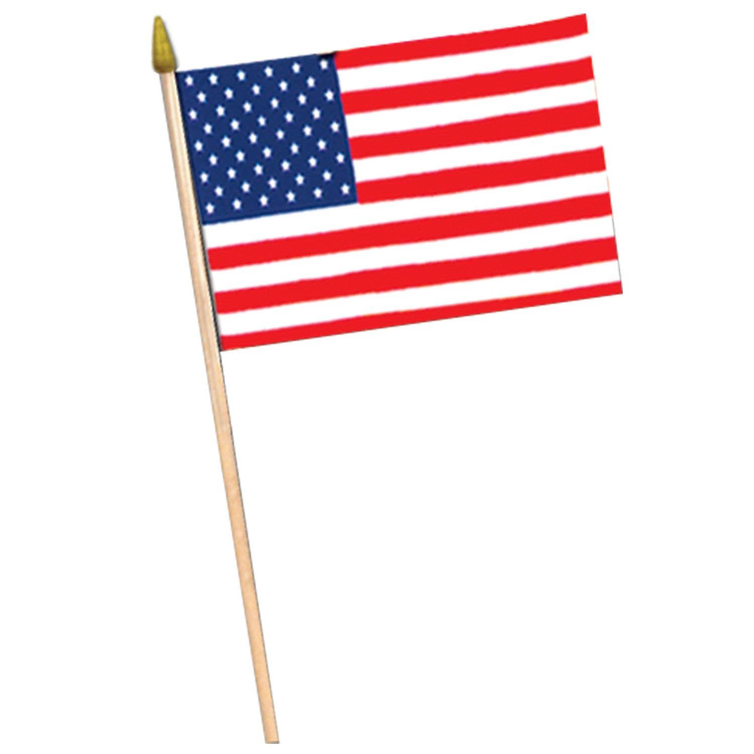 American Flag Rayon With 10 5 Plastic Spear Tipped Stick Case Of 12 American Flag Party Fabric Flags American Flag