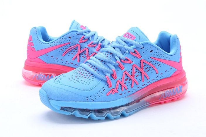 online store 2a0ec 9064d Nike Air Max 2015 Blue Women Pink II Shoes,the color match is