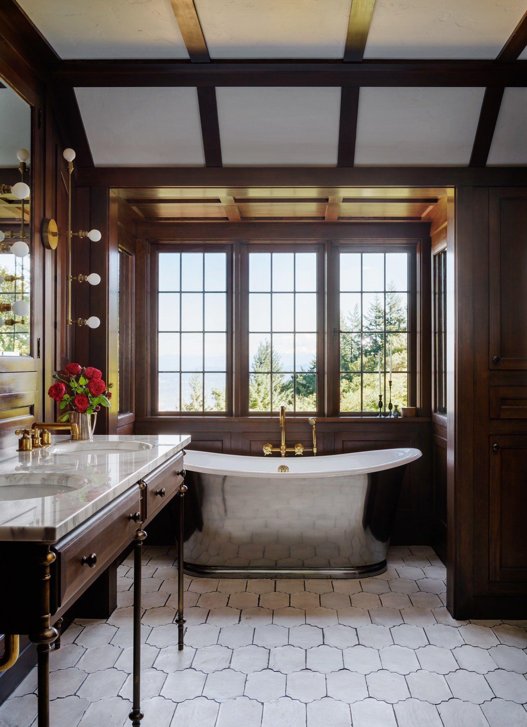 Go Inside A Historic Portland Tudor That S Surprisingly Modern Luxury Bathroom Master Baths Tudor House Top Bathroom Design