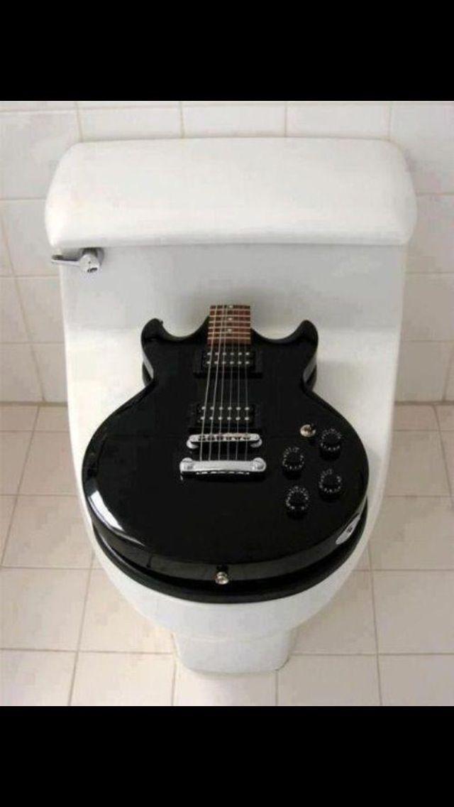 Guitar Toilet Seat Music Room Music Decor Guitar