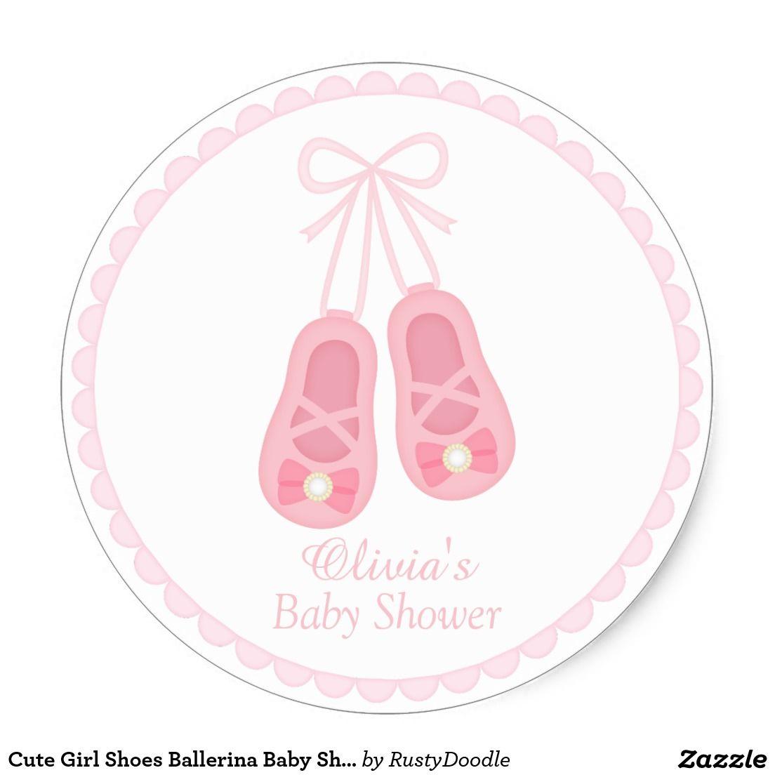 Cute girl shoes ballerina baby shower labels para novios for Sillas para novios