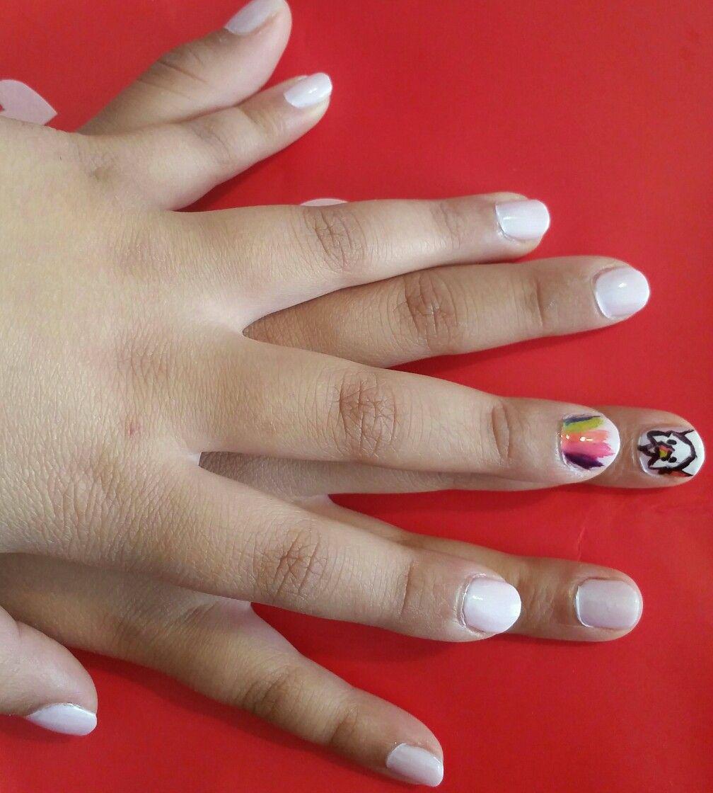 Unicorn Nails For My 8 Year Old Unicorn Nails Nails Nail Designs