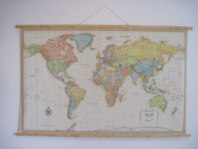 How to hang a map vintage style vintage wall maps and vintage how to hang a map vintage style this is great because i have a gumiabroncs Image collections