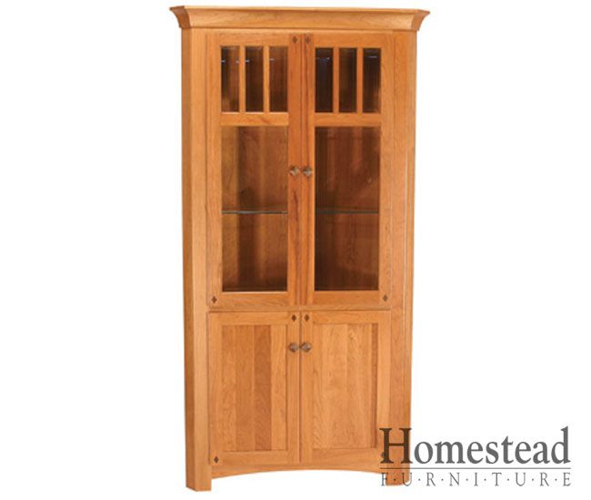 Diamond Mission Corner Hutch By Homestead Furniture Made In Amish