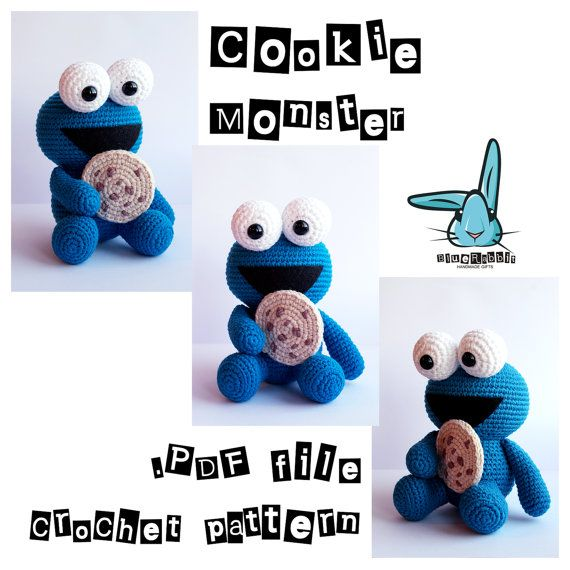Cookie Monster Amigurumi Crochet Pattern Inspired By Sesame