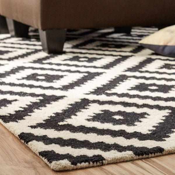 Obadiah Hand-Tufted Wool Black Area Rug #number5