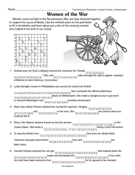 Independence Day Worksheet Women Heroes Of The Revolutionary War