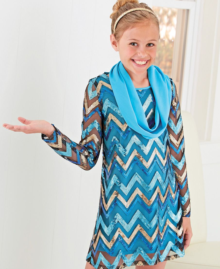 From CWDkids: Sheer Sleeve Sequin Dress. | Grateful for my ...