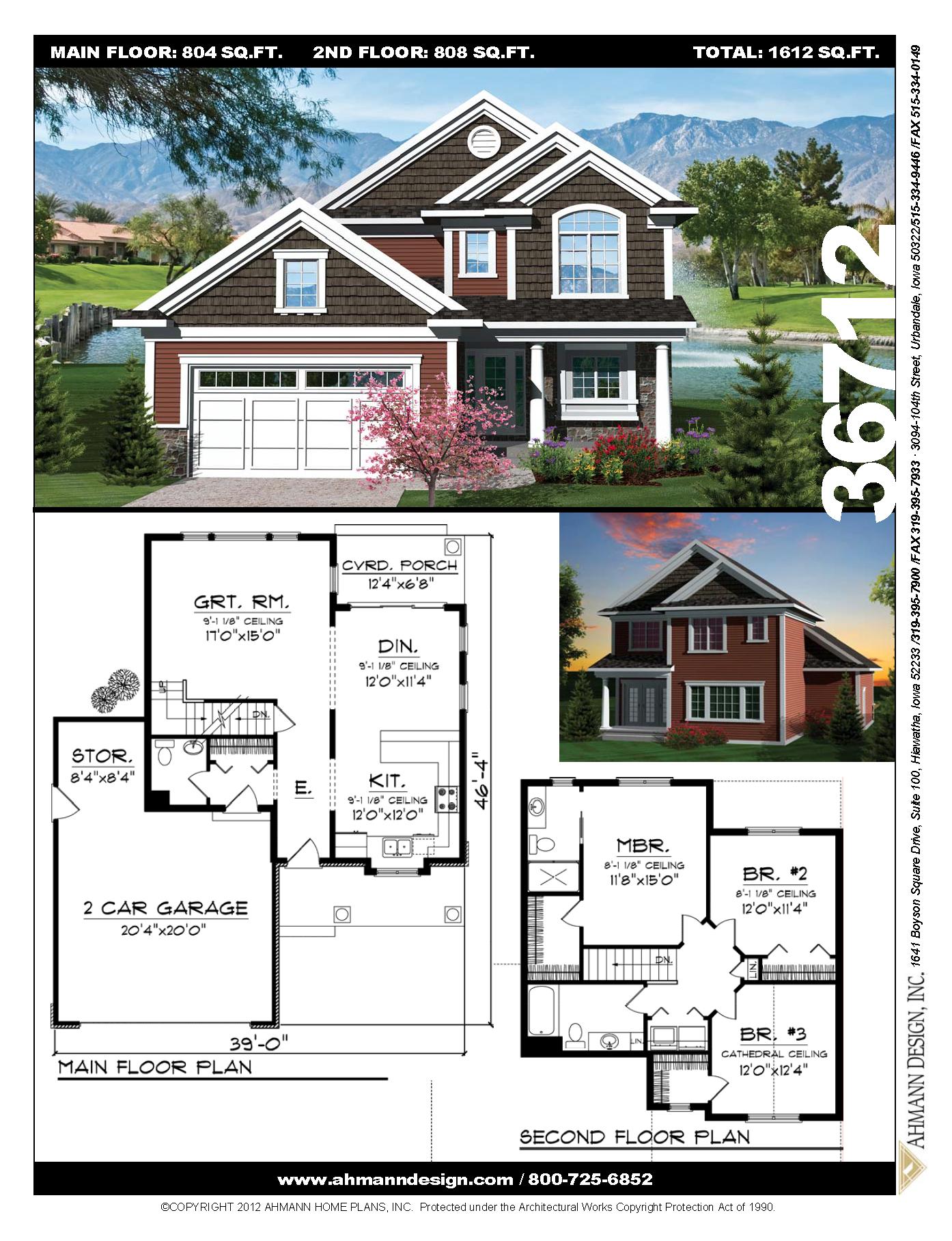 36712 House With Porch Porch Design Sims House Plans