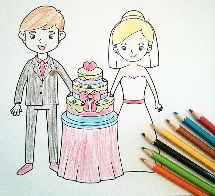 Ausmalbilder Hochzeit Hochzeitsmalbuch Als Pdf Kostenlos Ausmalbilder Hochzeit Brautigam Basteln Hochzeit