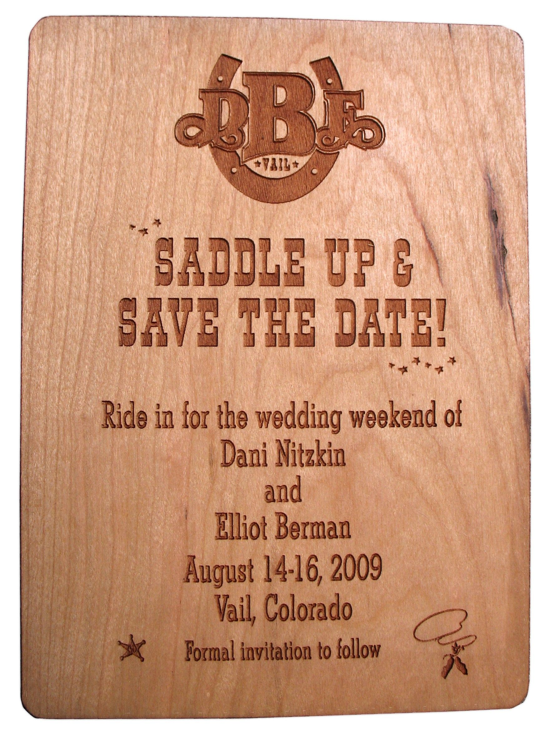 Western theme wedding invitations-i like the saying | My dream ...