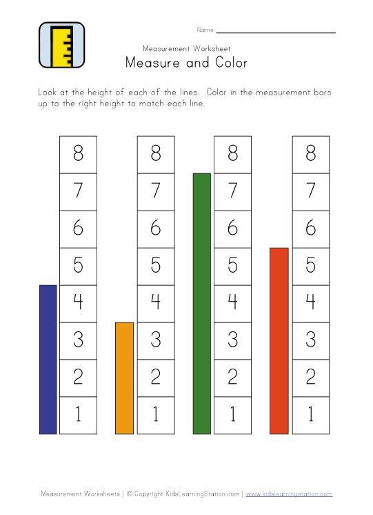 Measuring Worksheets Measurement Worksheets Worksheets For Kids Kindergarten Worksheets Printable