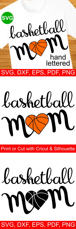 Basketball Mom SVG file for Cricut & Silhouette +