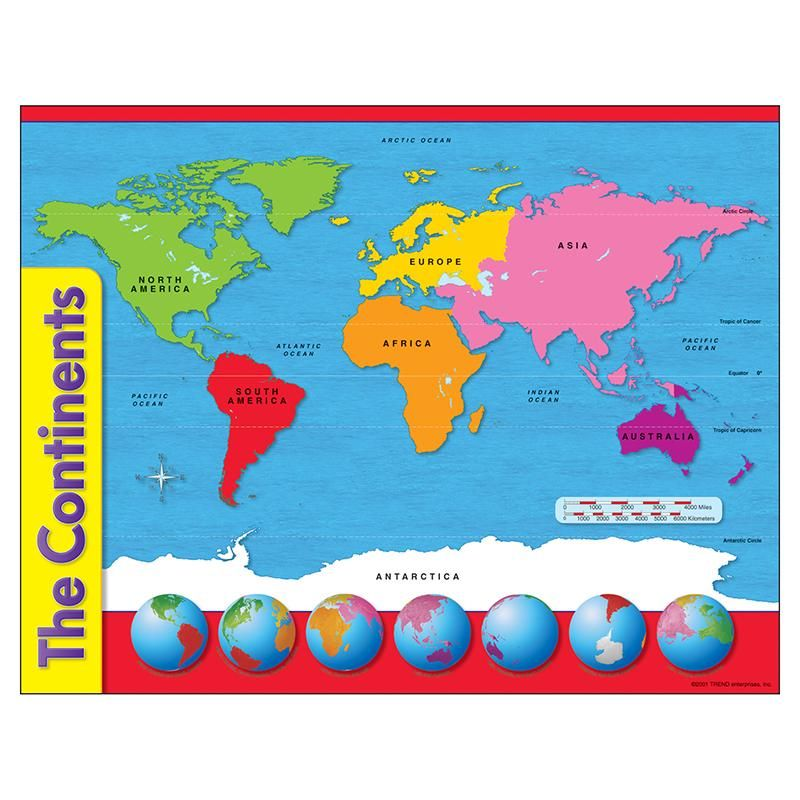 Chart The Continents Continents Teacher Created Resources