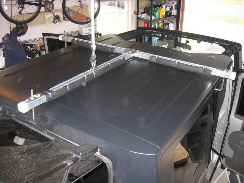 Hardtop Hoist Storage Write Up Jeep Jk Jeep Wrangler Unlimited Diy Jeep