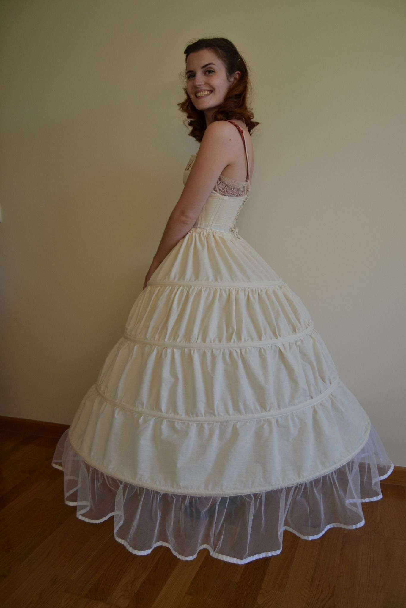 2d9b0eff44 How to make a hoop skirt (crinoline) . Free tutorial with pictures on how  to make a costume in under 120 minutes by sewing and dressmaking with  ribbon, ...